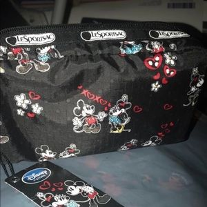 Disney Mickey Loves Minnie Mouse pouch bag